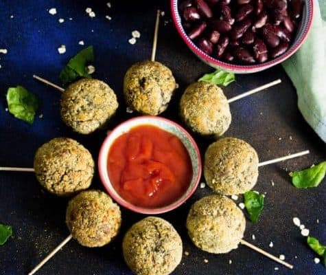 Palak Rajma Oats Lollipop (Non-Fried)