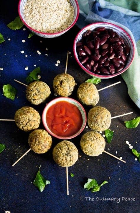 Palak Rajma Oats Lollipop (Non-Fried)