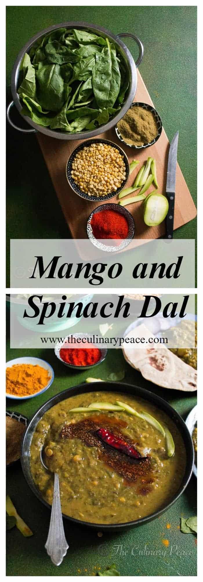 mango spinach dal
