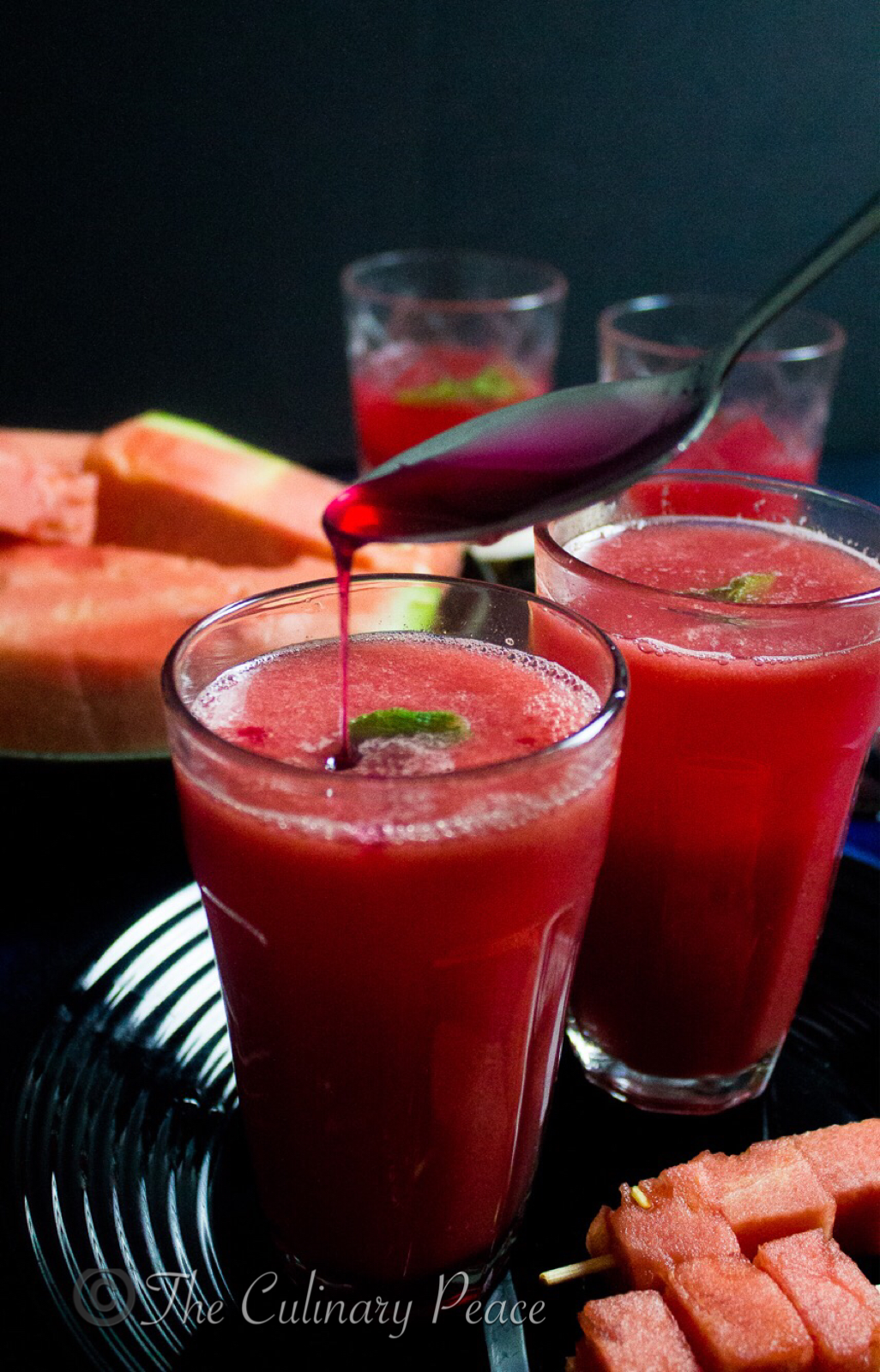watermelon rose sharbat