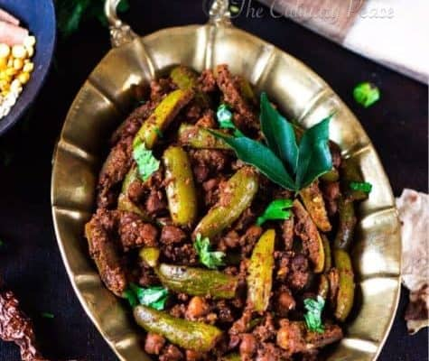 Thondekaayi Kadale Kaalu Palya | Tindora Chickpeas Sabji