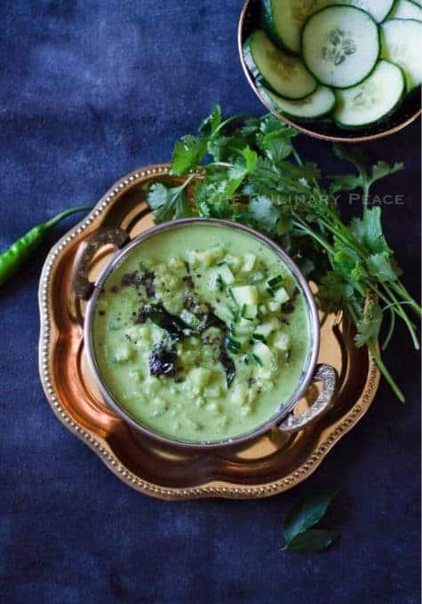 Southekayi Hasi Gojju | Cucumber Raw Curry Karnataka Style