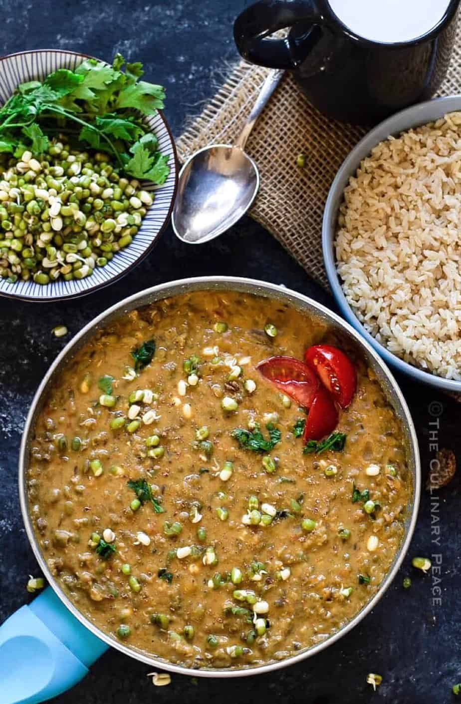 coconut milk green gram curry