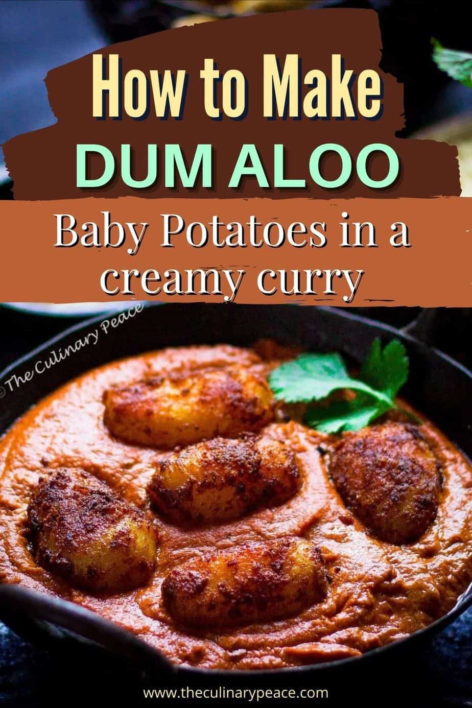 Dum aloo - baby potatoes in a creamy curry looking super delicious
