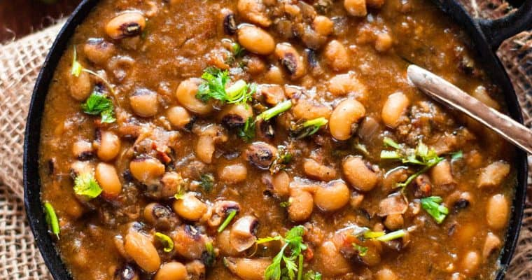 Instant Pot Black Eyed Peas Curry (Indian Lobia Curry)