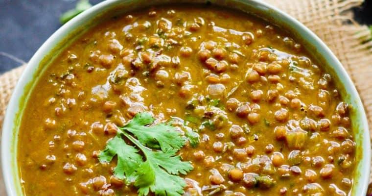 Indian Brown Lentil Dal (Whole Masoor Dal)